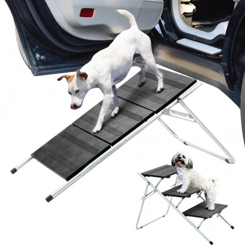Car Dog Steps High Quality Durable Portable Foldable Three Storys Pet Stair Step Multifunctional Pet Staircase For Cars High Bed