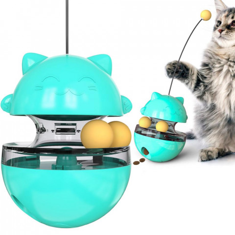 Fun Tumbler Pets Slow Food Entertainment Toys  Attract The Attention Of The Cat  Adjustable Snack Mouth Toys For Pet