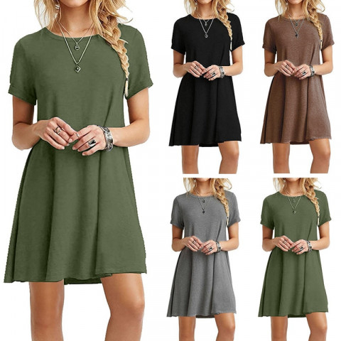 Beach Dresses   Womens O-Neck  Casual Boho