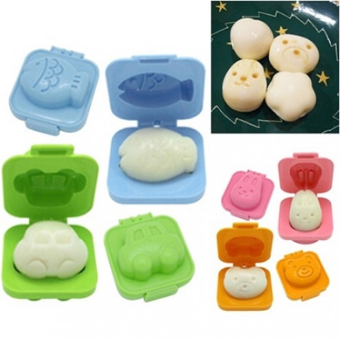 Animal Boiled Egg Mold-6pcs