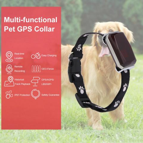 Waterproof Pet Collar GSM AGPS Wifi LBS Mini Light GPS Tracker for Pets Dogs Cats